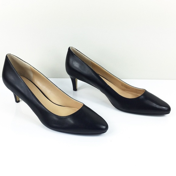 b069555ee60 NWOB COLE HAAN GRAND OS BLACK LEATHER PUMPS NWT
